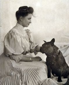 Did you know that Helen Keller had a Pit Bull? Sir Thomas may have been one of the world's first therapy dogs.