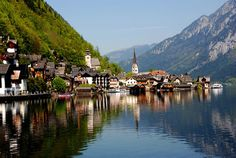 Hallstatt village in Austria