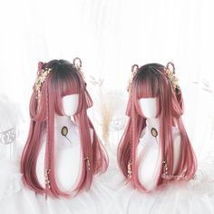 Kawaii Hairstyles, Afro Hairstyles, Pretty Hairstyles, Fantasy Hairstyles, Anime Wigs, Anime Hair, Cosplay Hair, Cosplay Wigs, Human Hair Afro Wigs