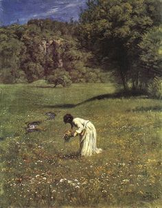 ~ Hans Thoma Auf der Waldwiese (In the woodland meadow), 1876 Aesthetic Art, Aesthetic Pictures, Ludwig Meidner, Hans Thoma, Flora Und Fauna, Classical Art, Renaissance Art, Old Art, Pretty Art