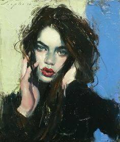 """Tousled Hair"" by Malcolm T. Liepke, oil on canvas, 2015 #OilPaintingPortrait"