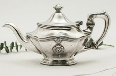 Vintage Reed & Barton Crested Teapot - only $160.00