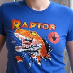 Raptor Tshirt from Ghost World Women's by indigofeet on Etsy, $35.00