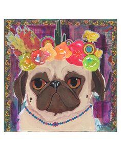 Frida Kahlo Pug Art Print Pug Gifts Gifts For Dog Lovers