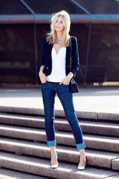 12 Ways To Style Your Basic Skinny Jeans via @Who What Wear