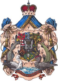 Coat of Arms of the Fürst von und zu Rheinbergen  Copyright © November 2015Ink and gouache on Bristol paper8.27 × 11.69 inches