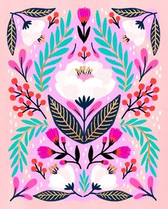 Floral painting by Jessica Phoenix. Jessica shares her inspirations on Listen Read Watch.