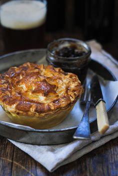 Chicken, Caramelised Leeks & Tarragon Pie, recipe and photography by The Hungry Cook