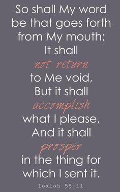 Isaiah 55:11 - Google Search
