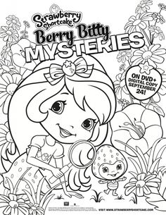 Strawberry Shortcake Coloring Page from Berry Bitty Mysteries