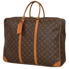 Pre-owned Louis Vuitton Monogram Sirius 50 Travel Suitcase Brown... ($509) ❤ liked on Polyvore featuring bags, luggage and brown