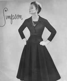 Suzy Parker in Adele Simpson 1955