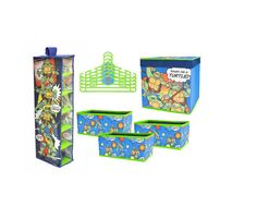 Toy Storage Organizer Kids Room Teenage Mutant Ninja Turtle 10 PC Shoes Clothes #Nick