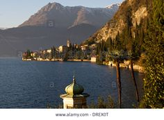 Sunset,varenna View,lake Como,italy Stock Photo, Picture And Royalty Free Image. Pic. 66095928