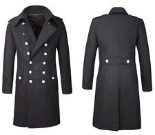WW2 Black German M32 Greatcoat Replica SS Breasted Wool Officer's Gala overcoat