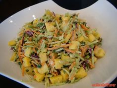 Juicy Mango Coleslaw, looks perfect for the summer time!