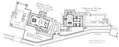 Resort Plan, Villa, Floor Plans, Flooring, How To Plan, Wood Flooring, Fork, Villas, Floor Plan Drawing