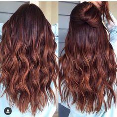 Red Balayage Hair, Brown Blonde Hair, Hair Highlights, Copper Balayage, Blonde Honey, Brown Balayage, Color Highlights, Hair Color Auburn, Brown Hair Colors