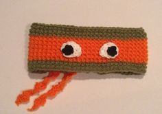 Are you a fun loving party animal? Show it off with this crochet Teenage Mutant Ninja Turtles ear warmer! Please leave your size at checkout. 12m-3yrs approx 18in circumfrence 3-8yrs approx 19in 8-13yrs approx 20in If you need a custom size please feel free to contact us!