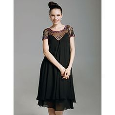 (Limited Supply) Click Image Above: Chiffon Sheath Scoop Knee-length Cocktail Dress With Beaded Neckline Cheap Cocktail Dresses, Cocktail Dresses Online, Cocktail Dress Prom, Black Cocktail Dress, Prom Dress, Dress Black, Bridesmaid Dresses, Wedding Dresses, Mob Dresses