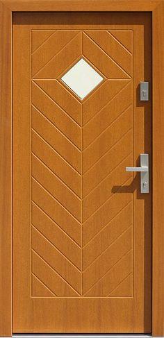 Drewniane wejściowe drzwi zewnętrzne do domu z katalogu modeli klasycznych wzór 543,1