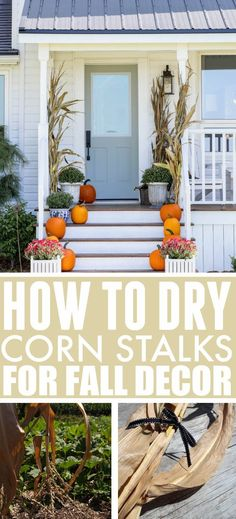 Thanksgiving Tablescapes, Thanksgiving Parties, Thanksgiving Decorations, Fall Home Decor, Autumn Home, Dried Corn Stalks, Fall Projects, Diy Projects, Fall Diy