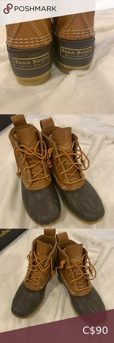 LL Bean boots size 7 medium B, will fit size Bean boots barely worn Bean boots are made to be tight around ankle Original laces, already tied for stylish look L. Ll Bean Shoes, Ll Bean Duck Boots, Bean Boots, Plus Fashion, Fashion Tips, Fashion Trends, Winter Rain, Beans, Ankle