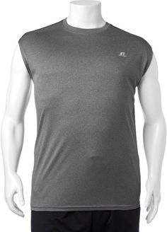 Russell Big & Tall Russell Heathered Dri-Power Performance Muscle Tee