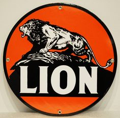 """12"""" Reproduction Lion Sign would be a great addition to any garage! #retro #collectible. Shop now at www.gaspumpheaven.com!"""