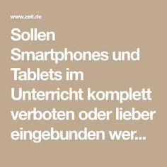 Sollen Smartphones und Tablets im Unterricht komplett verboten oder lieber eingebunden werden? Zwei Schulen in Nordrhein-Westfalen verfolgen entgegengesetzte Strategien.