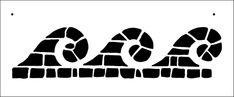 Mosaic Waves stencil from The Stencil Library BUDGET STENCILS range. Buy stencils online. Stencil code BB59.