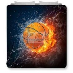 Stunning Fire Basketball Bedding