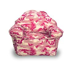 Pink Camouflage Beanbag Chair