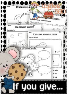 Free If You Give a Mouse a Cookie Printables