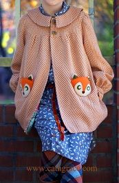 Lookie what she made: Fall coat with felt fox coat pockets · Sewing | CraftGossip.com