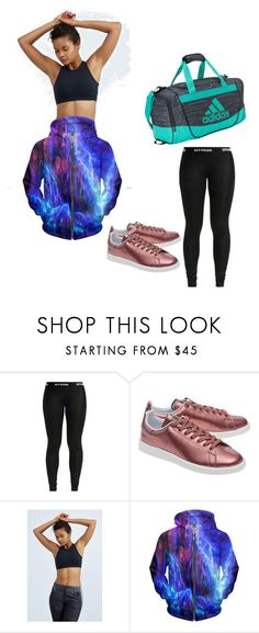 """""""I work out...strong"""" by tluebke ❤ liked on Polyvore featuring adidas Originals and adidas"""