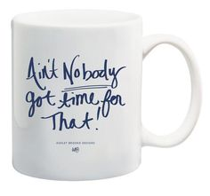 Our feelings on just about everything that's not trips to Disneyland, a good book, or sprinkles on cupcakes. - 11 ounces - white ceramic mug - bold navy hand lettering - text on both sides - microwave Ashley Brooke Designs, Cute Coffee Mugs, Coffee Cups, Fancy Houses, Coffee Drinkers, Funny Mugs, Cup And Saucer, White Ceramics, Kitchens