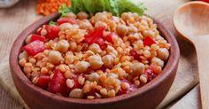 Recette de Cocotte végétarienne brûle-graisse Croq'Kilos de lentilles et pois chiches aux légumes. Facile et rapide à réaliser, goûteuse et diététique.