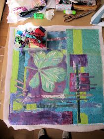 Hilary B - can talk: some progress at last and the first heap of Make it Personal students work Gelli Arts, Gelli Printing, At Last, Student Work, Embroidery, Quilts, Students, How To Make, Painting
