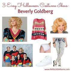 3 Easy Halloween Costume Ideas: Beverly Goldberg | Hello Little Home #Halloween #BeverlyGoldberg #TheGoldbergs