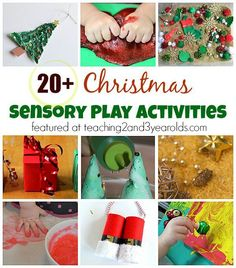 Christmas Sensory Play Activities for Kids - Teaching 2 and 3 Year Olds Christmas Activities For Toddlers, Preschool Christmas, Toddler Christmas, Old Christmas, Christmas Crafts For Kids, Christmas Themes, Xmas, Holiday Activities, Christmas Music