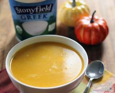 Butternut Squash Recipe: Butternut Squash, Pear and Yogurt Soup