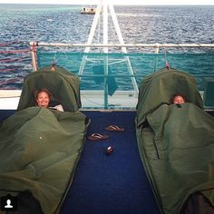 Sleeping on the Great Barrier Reef under the stars was unreal. #swaginswags #cousins #australia #oho #reefworld #reefsleep
