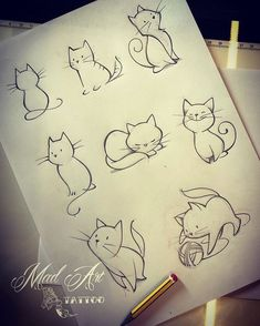 70 Ideas Tattoo Cat Drawing Tatoo For 2019 Inkstincts of a cat. Cat designs for girls room Search inspiration for a Minimal tattoo. Learn To Draw People - The Female Body - Drawing On Demand Cats Are Nocturnal great inspiration for my tracker journal as w Tattoo Sketches, Tattoo Drawings, Drawing Sketches, Drawing Ideas, Drawing Tips, Sketch Ideas, Drawing Tutorials, Cat Drawing Tutorial, Kunst Tattoos
