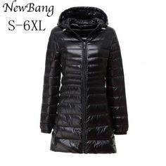 Frauen Ente Daunenjacke Jacke Ultralight Outdoor Outwear Plus Größe
