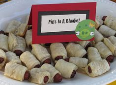 Food, games and decoration ideas for Angry Birds party