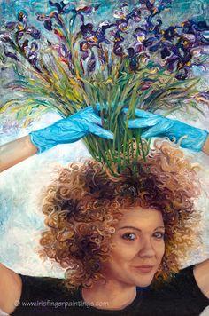 Iris Scott self portrait painting.