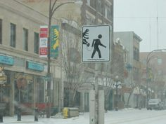 This is what Moose Jaw looked like when I visited.  Love the crossing sign :-)