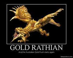Gold Rathian by Mastervenusflytrap