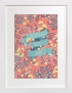 Words Not War by Snow and Ivy at minted.com